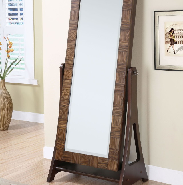 . Fashion standing floor mirror  Jewelry armoire and full length